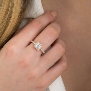 Size 7.5 pandora ring rose gold